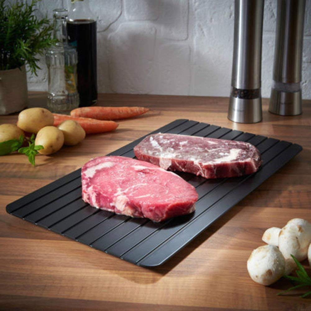 Gourmet Trends Food Grade Defrosting Tray Frozen Food Faster No Electricity, No Chemicals, No Microwave