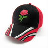 High quality flower rose hat embroidery baseball cap stitching baseball cap