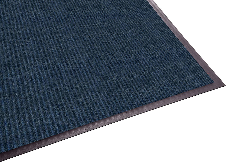Guardian Golden Series Dual-Rib Indoor Wiper Floor Mat, Vinyl/Polypropylene, 2'x3', Blue