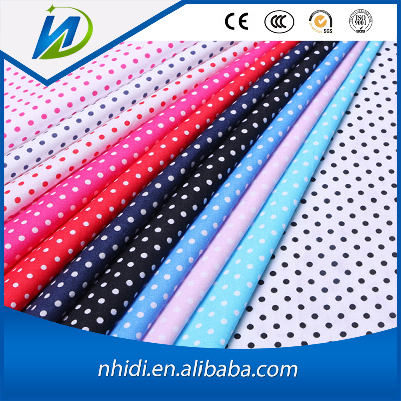 Factory Price Women Dress Reactive Dye Dot Printing Cotton Fabric