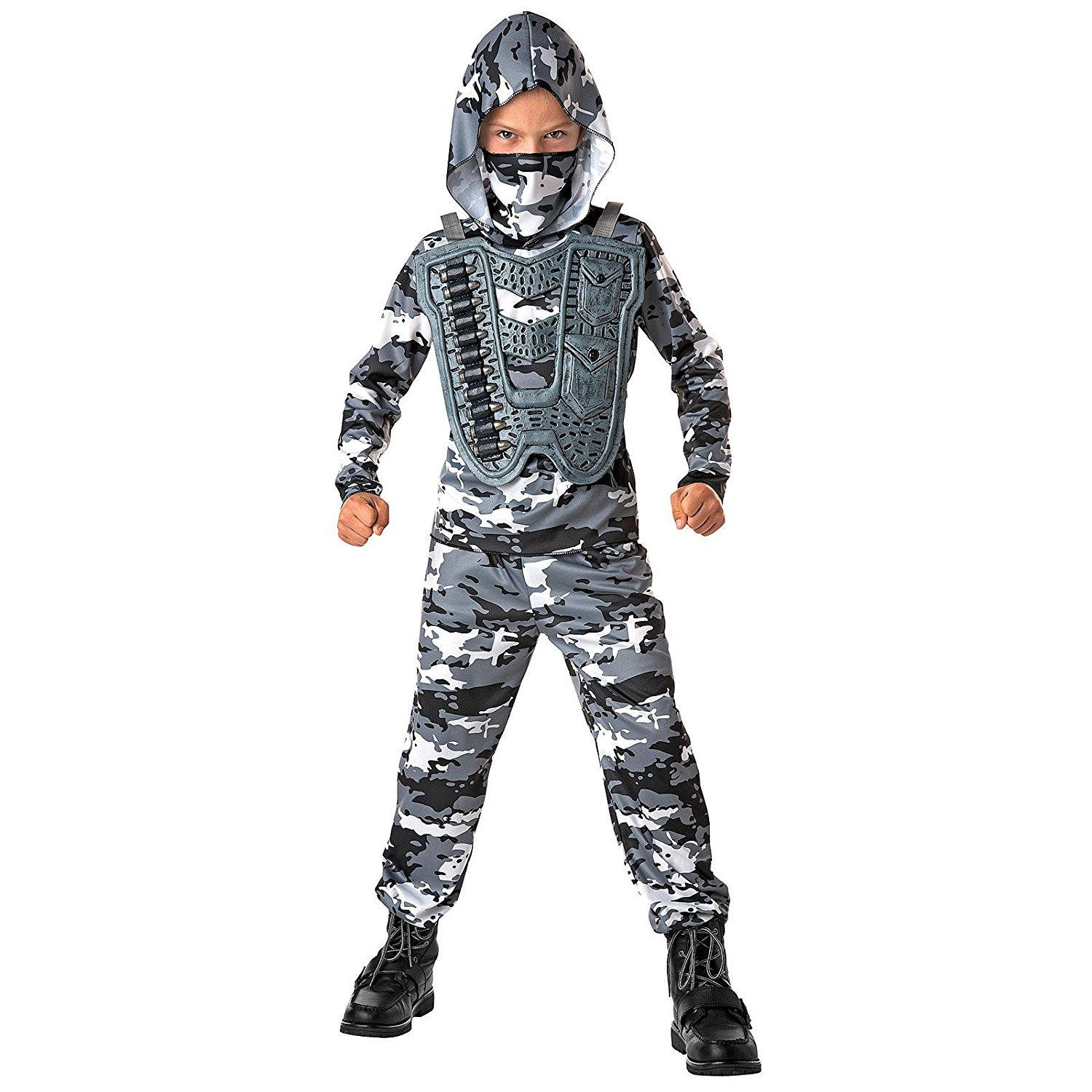 Totally Ghoul Snow Commando Costume, Boy's Size Small, for ages 3+
