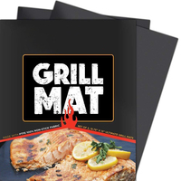 Grill Mat - Set of 2 Heavy Duty BBQ Grill Mats - Non Stick, Reusable, and Easy to Clean Barbecue Grilling Accessories