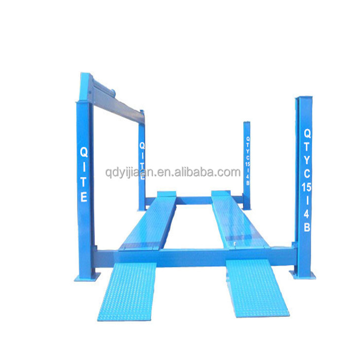 hydraulic lifter 4 post car hoist lift up machine
