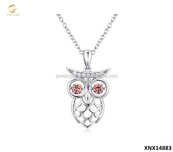 Unique owl 925 sterling silver pendants necklaceowl lucky jewelry unique owl 925 sterling silver pendants necklaceowl lucky jewelry wholesale aloadofball Images