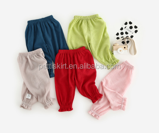 multi-color baby girl summer pants Muslin Lovely baby pants infant