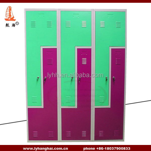 Two Standard Size Traditional Lockers Office Changing Rooms Closet ...