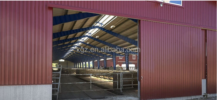 steel structure cow feed house