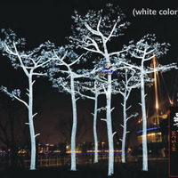 LED outdoor white lighting christmas tree for holiday decoration