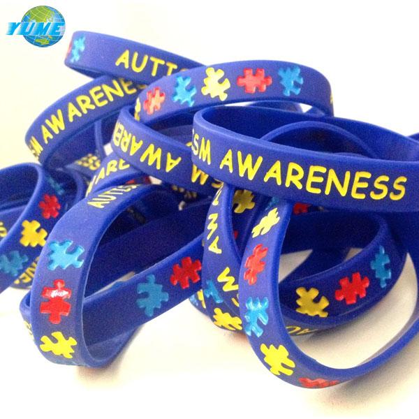 Child Youth Size Autism Awareness Silicone Wristband Bracelets