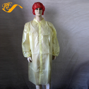 Disposable Examination Gown Nonwoven and Plastic Lab Coat Waterproof
