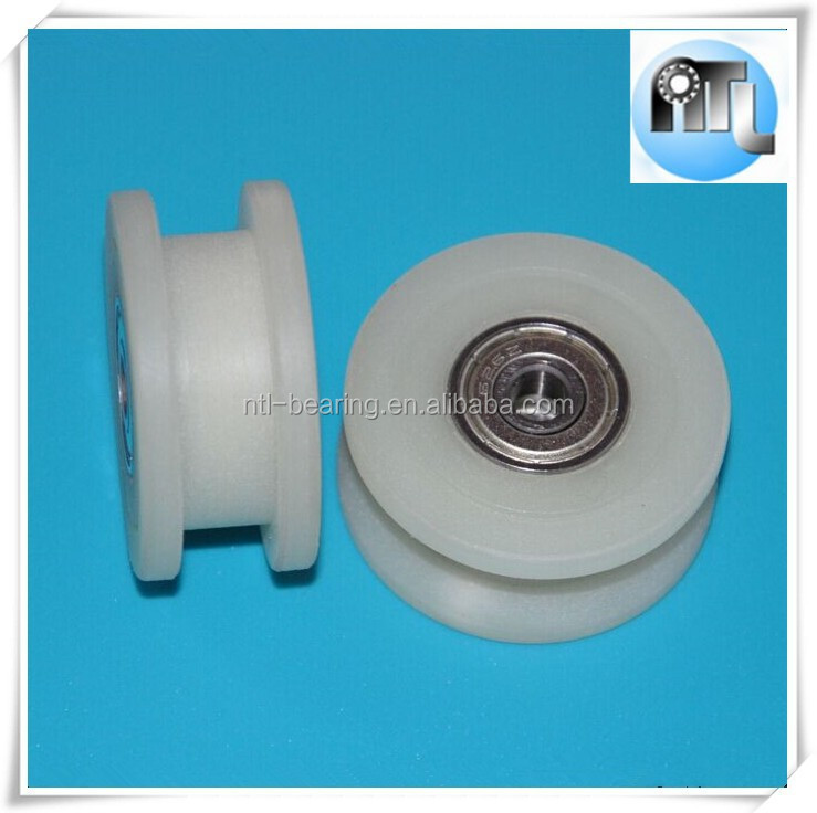 Supply H groove type 6*40*18mm high strength nylon plastic bearing for machinery accessories pulley