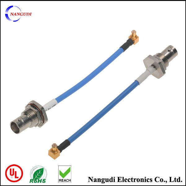 customized golded rf connector rg 187 coaxial cable