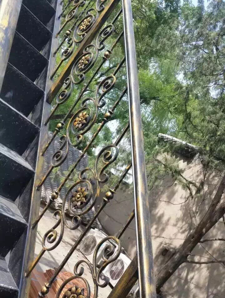 Wrought Iron Morden Stair Railing Safety Net Designs Iron Grill