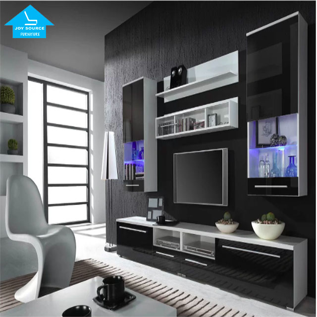 Modern stereo storage assembly led tv stand