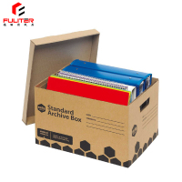 Cardboard storage plain strong archive box