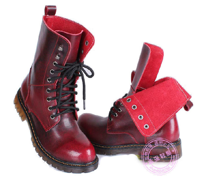 Free Shipping Hot Sale 2014 New Women Punk Martin Boots European Style Korean Gum Outsole Brand Motorcycle Boots Female G565