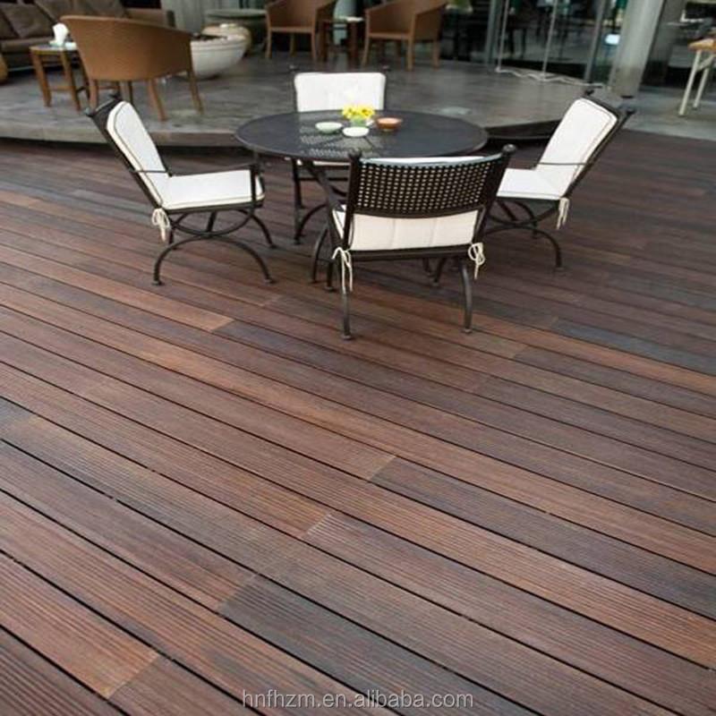 Dark Carbonized Bamboo Decking Outdoor Bamboo Flooring