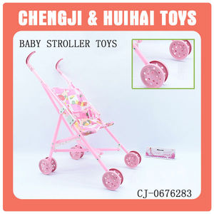 Children toy plastic cheap pink baby stroller for dolls
