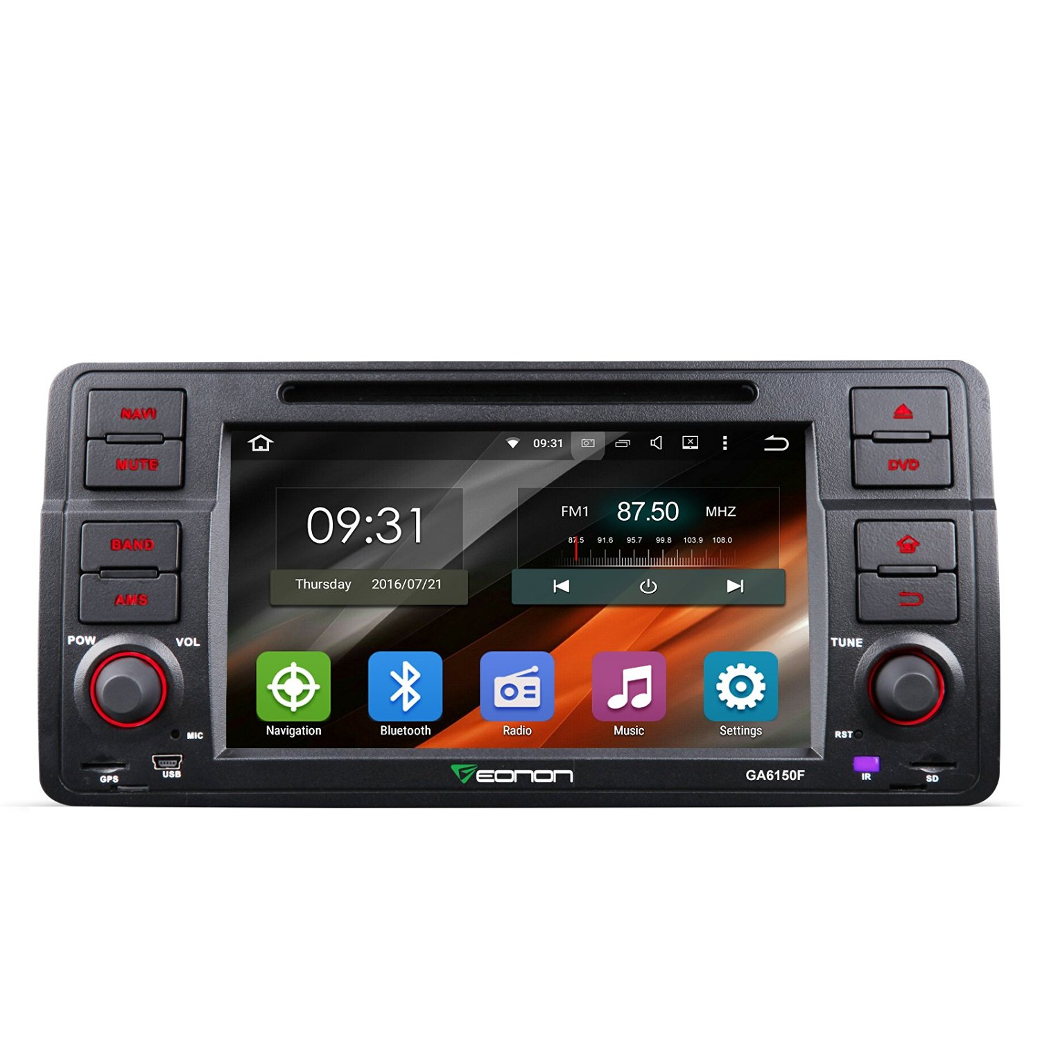 Get Quotations · Eonon GA6150F Android 5.1 Car DVD Player Special for BMW  E46 3 Series 1998-2005