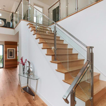 Modern Interior Glass Railing Designs With Stainless Steel ...