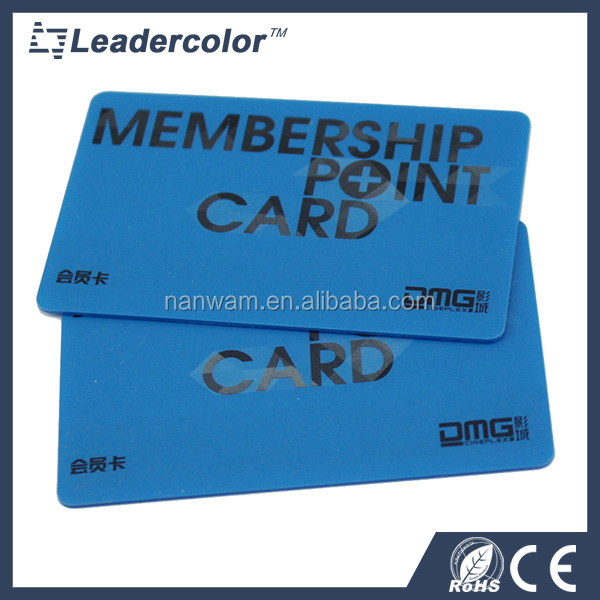 Plastic CMYK RFID13.56Mhz Member Card with Chip