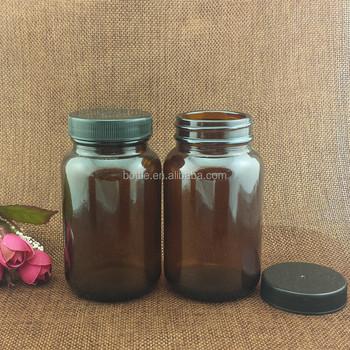 Amber Glass Wholesale Large Pharmacy Apothecary Storage Medical Jar/bottle  With Cap