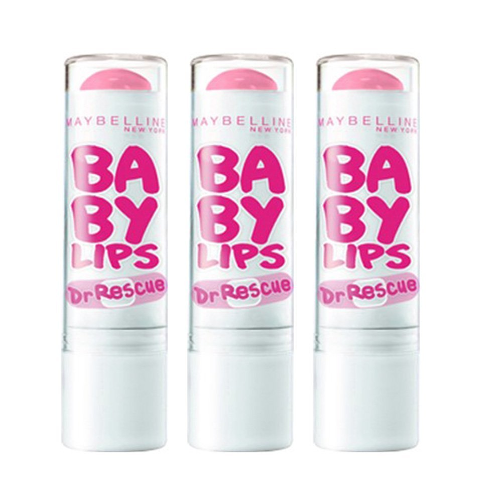 Maybelline Baby Lips Dr Rescue Moisturizing Lip Balm, Pink Me Up (Set of 3)