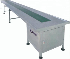 China factory low noise 3-30m length customized width and height stainless steel nylon belt conveyor table machine