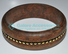 china cheap brown color bamboo wood bangle bracelet