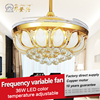 Adjustable among three color temperatures 42inch 36w led ceiling fan light for restaurant