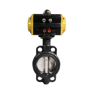 Double Offset Carbon Steel Hard Seal Pneumatic Control Butterfly Valve