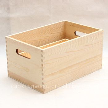 2017 High Quality Wooden Food Container Storage Cube Boxcrate Wood