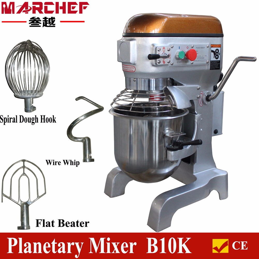 New Brand10l 3 Speed Commercial Food Mixer Planetary Mixer