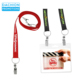 "Logo printed Econo Lanyard with Two Attachment (3""4)"