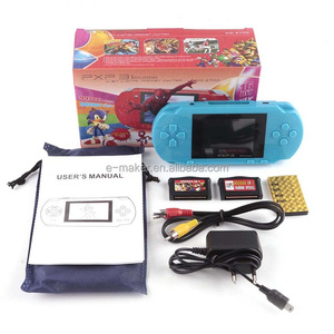 16 Bit PXP3 & PVP Handheld Game Console Portable PXP 3 Pocket Game Console 16Bit Slim Station Games 3000