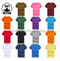 OEM cotton t shirt plain in bulk