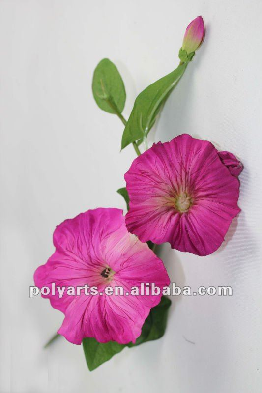 2 flowers X 2 buds artificial flower morning glory