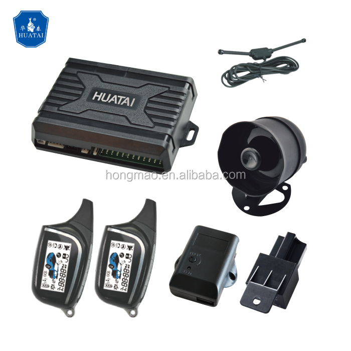 HUATAI two way FSK technology super long range monitoring car alarm system HT-800F2C Remote Starter
