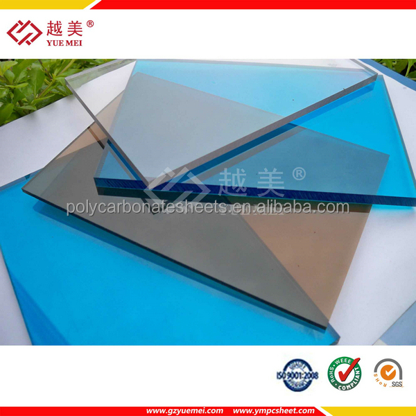 2mm 3mm LEXAN Grade A polycarbonate panel roofing window