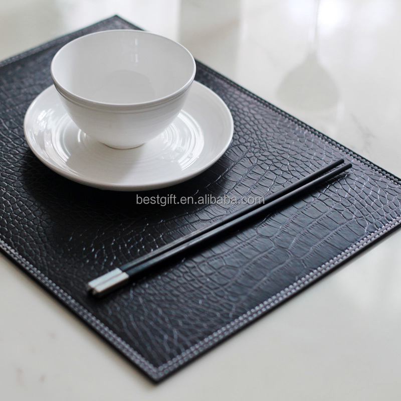 Reversible Crocodile Leather Placemats For Restaurant   Buy Placemats For  Restaurant,Crocodile Leather Placemats For Restaurant,Placemats For  Restaurant ...