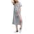 Solid Color High Side Slit Short Sleeve Summer Loose Dress Long Women T-Shirt Dress