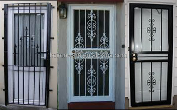 Decorative Wrought Iron Metal Security Door & Window