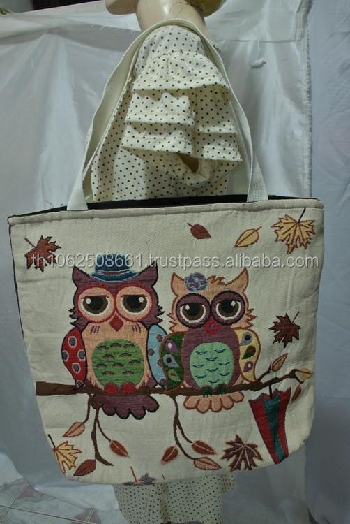 Thai Cotton Owl Tote Women Las Bag Handbag Thailand Fashion Bags Handbags Whole Trends