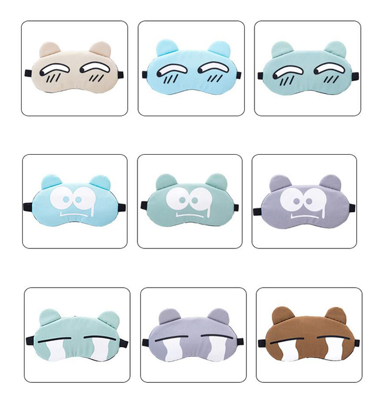 China supplier medical silk eye patch with case
