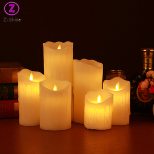 Battery powered LED flameless electric warmer candle lighter cheap scented candle