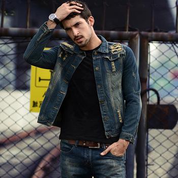 boutique hot denim jas mannen gat mode heren jassen oversize true