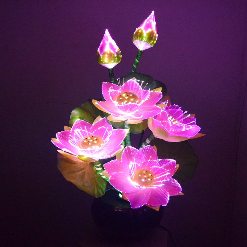 Holiday Decor Large Artificial Lotus Flower Fiber Optic Light Buy