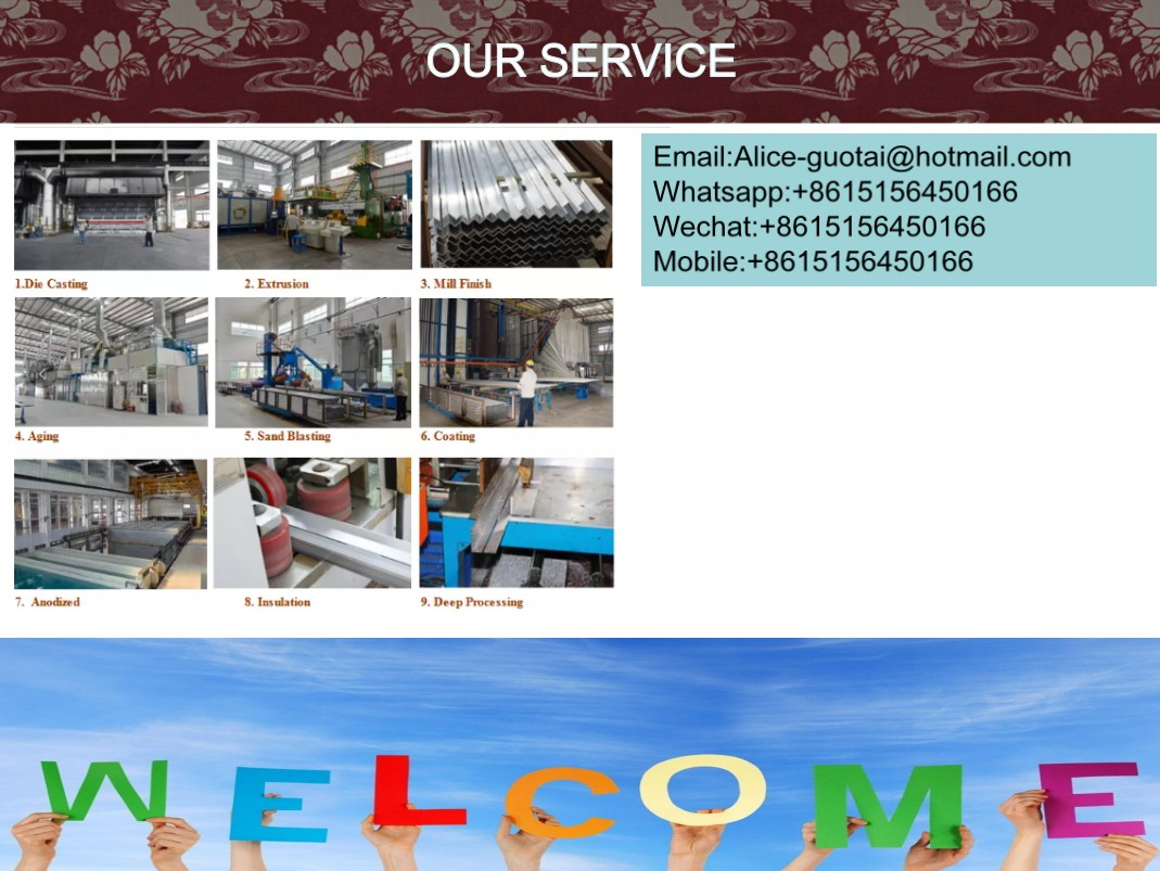 Guotai 6061 6063 T6 T5 nhôm