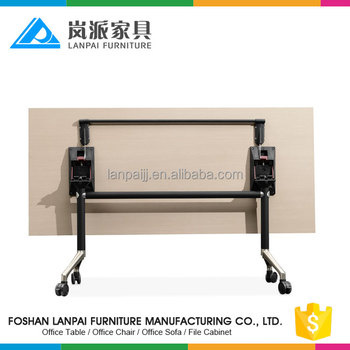 2017 hot sales wooden folding working table fold away table and
