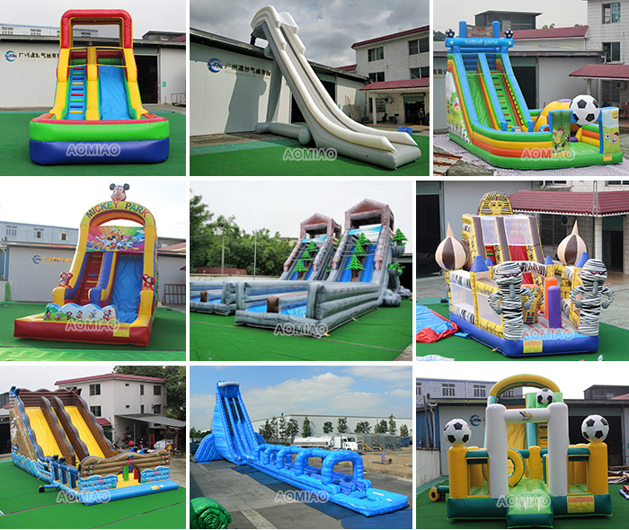Tall inflatable zip line slide commercial grade giant adult water inflatable slide
